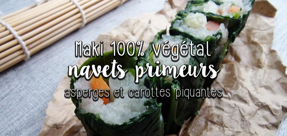 Maki aux légumes de printemps